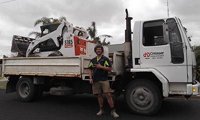 Our experienced operator, Shaun Creaser with bobcat and tip truck