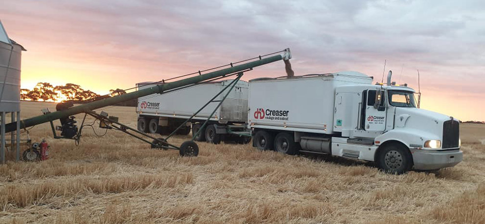 Creaser Haulage and Bobcat can deliver your grain to your preferred Buyer.